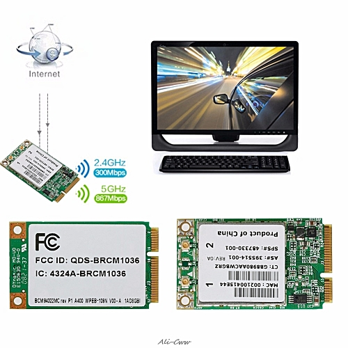 Wireless-N WIFI BCM94322MC 300M Dual Band Mini PCI-E Card For HP  SPS:487330-001( )