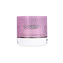 Mini LED Bluetooth Wireless Speaker  TF Portable For Cell Phone Laptop PC - Pink