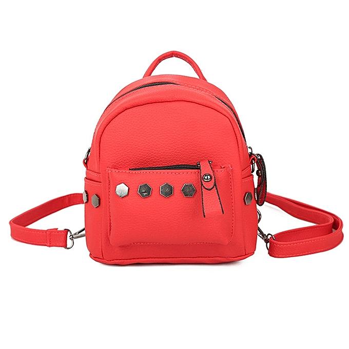 4184413d4f70 koaisd Fashion Women Backpack Good Quality Rivet School Backpacks Leather  Backpack RD