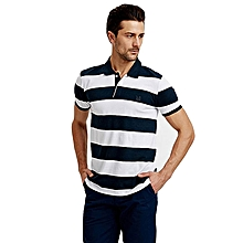 Green and White Fashionable Standard Short Sleeve T-Shirt