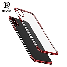 Baseus Glitter Case Ultra Slim PC Back Cover Protective Skin for iPhone X RED