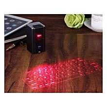 Projection Keyboard - Portable Virtual Laser Keyboard - Speaker - Black