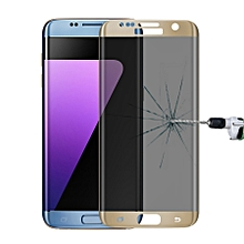 For Samsung Galaxy S7 Edge / G935 0.3mm 9H Surface Hardness 3D Curved Privacy Anti-glare Silk-screen Full Screen Tempered Glass Screen Protector(Gold)