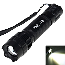 Flashlight CREE XML T6 LED 1000 Lumens 5 Modes Location Beacon IPX-7 Military Explorer Torch - Black