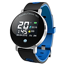 Y6PLUS Bluetooth Smart Bracelet Waterproof Sports Watch Heart Rate Monitor blue