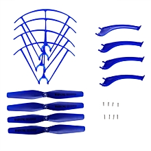 Landing Skid + Protection Frame / Propeller Set With Screw For X5HW X5HC RC Quadcopter - Blue