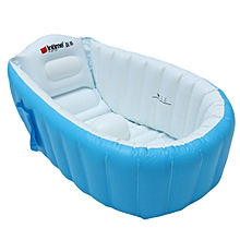 New Baby Kids Toddler Summer Portable Inflatable Bathtub Newborn Thick Bath Tub Blue