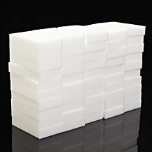 Nano 50PCS Sponge Magic Magic Wipe The Kitchen Clean Cleansing Scrub Dish Sponge Magic Sponge Multi-function Foam Cleaning Eraser Material: Melamine Color: White Size: 10 * 6 * 2cm