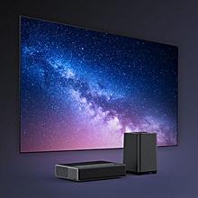 Wemax One 1688 ANSI Lumen FHD No Screen TV with Wemax S1 Subwoofer Soundbar