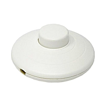 10 pieces - Foot pedal switch white 250V round CE Foot switch for standing and table lights Line switch