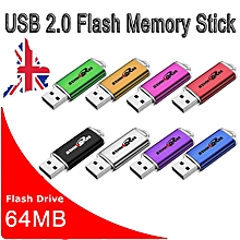 64MB USB Flash Drive Memory Stick Pen Storage Thumb U Disk Lot