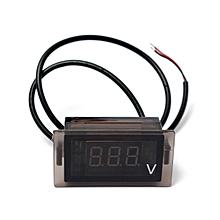 LED Digital Display Voltmeter Voltage Meter Gauge Vehicle DC 4.5-30V Car Motor