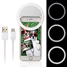 Android Charging Interface Mobile Phone Beauty LED Self-timer Fill Light(White)