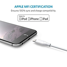 iPhone Charge Cable - iPhone X/8/8 Plus/7/7 Plus/6/6 Plus/5S (White)