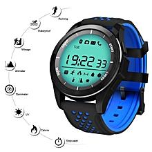F3 Smart Watch Waterproof Sport Watch Smart Fitness Bracelet Pedometer UV Remote Camera Smartwatch for Android iOS - Black Blue