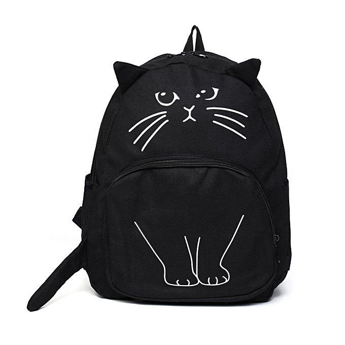 Cat Backpack Women School Bags For Teenagers Designer Casual Style Printing  Travel Bag Students Canvas Backpack 4577e826c3169