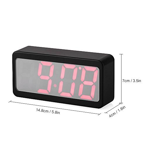 Usb Battery Ed Digital Rgb Led Alarm Clock Time Temperature Date Display 115