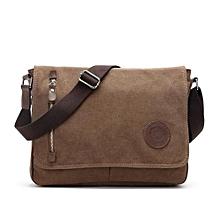 Pure Color Outdoor Bag Ventilate Large Capacity Augur 8501 Canvas Schoolbag Cross Body Single Shoulder Bag With Durable Strap(Coffee)