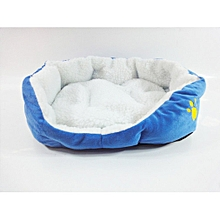 Warm Padded Dog Bed Waterproof Washable Pet House Mat House Pet Supplies blue