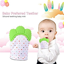 Teether Molar Glove Baby Silicone Pacifiers Gloves Teething Chewable Nursing Give Up Sucking Finger