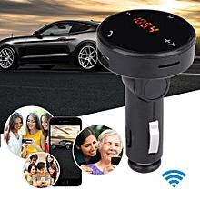 Hiamok_Wireless Car Kit MP3 Player Radio Bluetooth FM Transmitter SD USB Charger Remote
