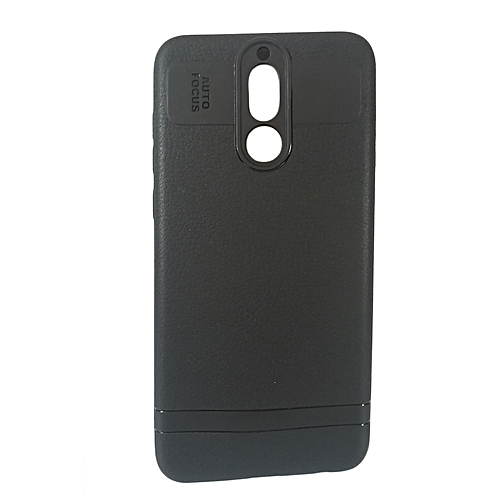sports shoes 2c960 ed6ae Huawei Mate 10 Lite Back Cover - Silicone Rubber Finish Black