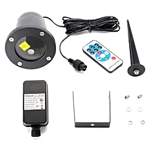 Outdoor Moving Projector LED Laser Lamp Waterproof Christmas Stage Garden Light UK Plug
