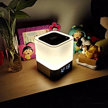DY28 MUSKY Wireless Bluetooth Speaker Touchable LED Table Lamp Alarm Clock By BDZ