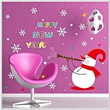Christmas Wall Sticker Snowman Snowflake Decals Home Window Decor New-