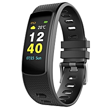 IWOWN i6HR C Sports Smart Bracelet 0.96 inch TFT Color Screen Heart Rate / Sleep Monitor Pedometer Sedentary Reminder USB Plug Bluetooth 4.2 - BLACK