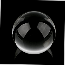 60mm Clear Round Glass Artificial Crystal Healing Ball Sphere Decoration