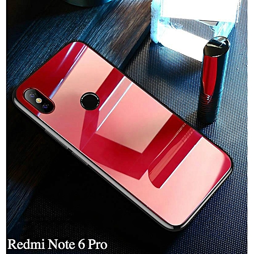half off 91e3a 2fd30 Glass Case For Redmi Note 6 Pro Full Protection 9H Tempered Glass Back  Cover For Xiaomi Redmi Note 6 Pro Casing Shell