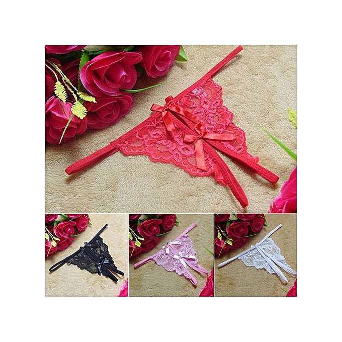 c9040a79f Womens Floral Lace Sexy Comfortable Low Rise Open Crotch Underwear G-string
