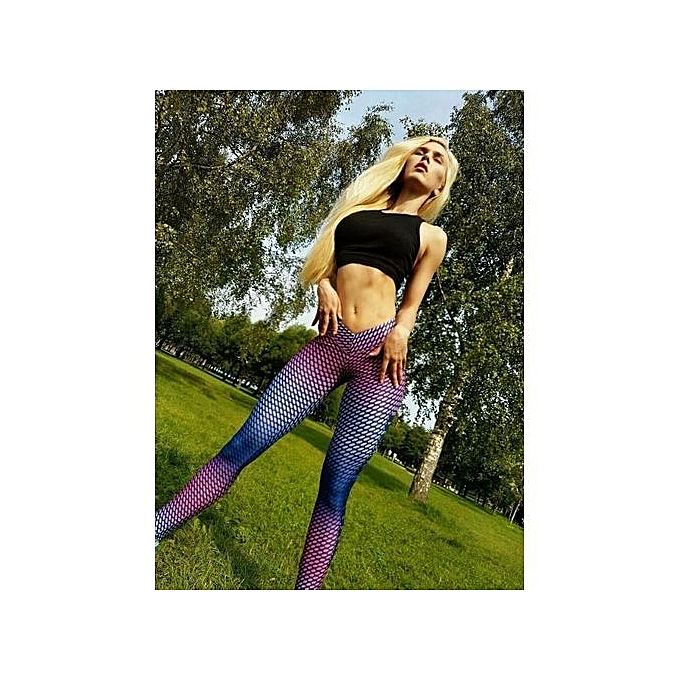 The Explosion Women S Colorful Printed Compression Running Tights Yoga Workout  Pants Sports Gym Slim Fitness Trousers 985fd10e6774