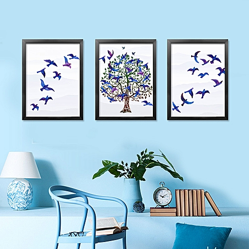 Generic Qukau 3pcs 40 60cm Wall Painting Picture Mural Background