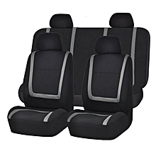 Universal Car Seat Covers Full Set Washable Front Rear Head Covers GREY &BLACK
