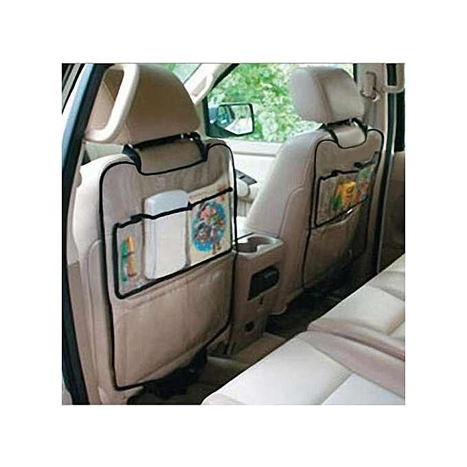 1PC Car Auto Seat Back Protector Cover For Children Kick Mat Storage Bag As Shown