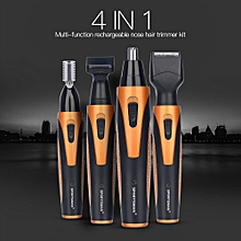 4 In 1 Men's Electric Nose Ear Hair Trimmer USB Rechargeable Sideburns Eyebrow Beard Trimmer Kit