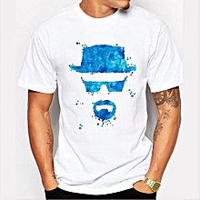 Refined Men's Fashion Art Design Heisenberg Printing T-shirt Refined Breaking Bad Tee Shirts Hipster Cool Tops-Color 7