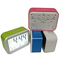 ABS LED Night Light Digital Thermometer Large LCD Display Snooze Function with Calendar Alarm Clock