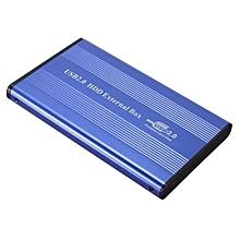 "USB 2.0 2.5"" IDE Hard Drive Disk HDD External Case Enclosure PC Blue"
