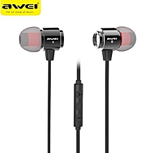 Awei S10hi Stereo Sound In Ear 3.5mm Earphones With 1.2m Volume Control Cable (Black)