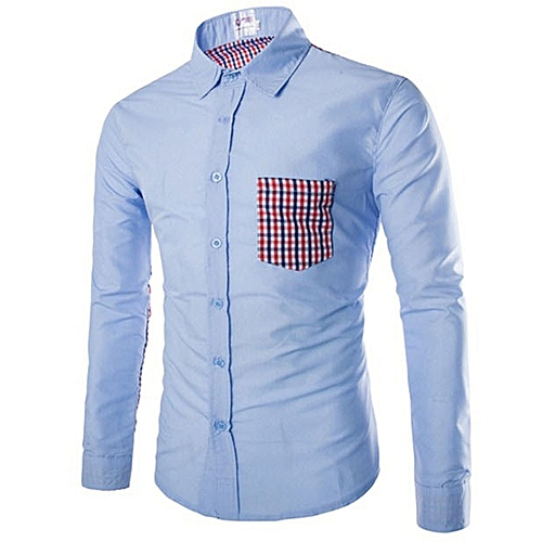 5bae30d8a93 Generic New Stylish Spring Summer Men s Plaid long-sleeved Shirt   Best  Price