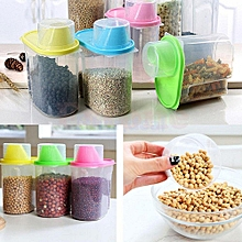 Set of 4 cereal dispenser-Multi colour lids
