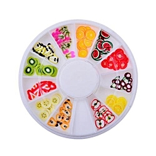 bluerdream-3D Mix Fimo Nail Art Nail Tips Polymer Clay Slices Decoration Wheel New-As Shown