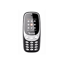 "3310 1.77"" Dual sim, 0.08 MP Camera,  – Black + FREE PROTECTIVE CASE"