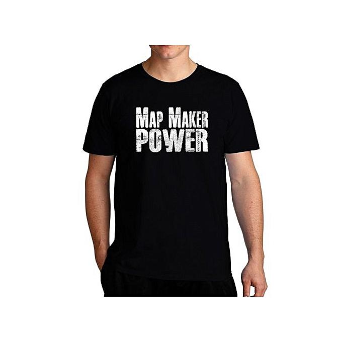 Map Maker Power Cool Men T-Shirt