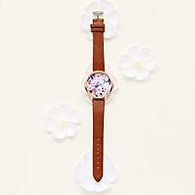 guoaivo LVPAI Watches Women Quartz Wristwatch Clock Ladies Dress Gift Watches -Brown