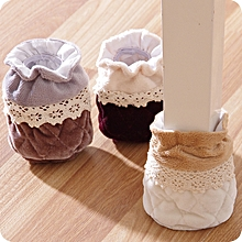 4PCS Table Feet Pad Anti Scratch Table Leg Cover Lace Feet Protector Antiskid Chair Floor Protector