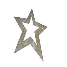 Xmas Hanging Star 80cm- Silver